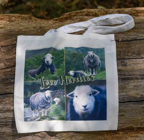 Herdwick Sheep 'Love Herdies' Soft Cotton Tote Bag